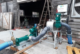 Separation System for Cow Manure