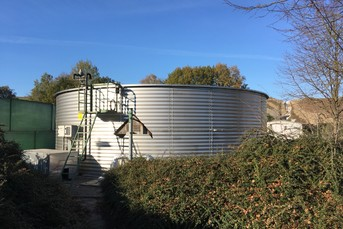 Process Water Container in Stainless Steel for WWTP