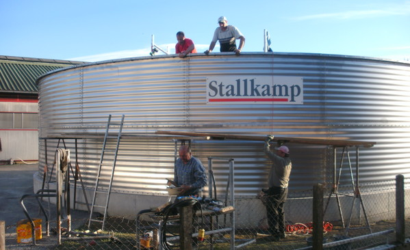 stallkamp extension of concrete liquid manure tank