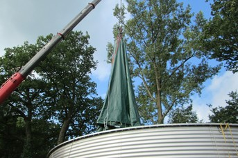 Roof Construction for Slurry Tank