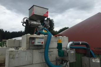 Press Screw Separator on Biogas Plant