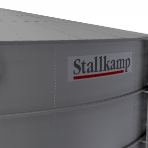 Stallkamp industrial storage with roof