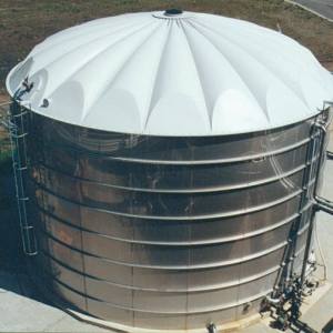 Stallkamp roof for process wastewater