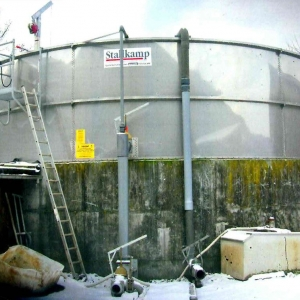 Stallkamp adding hight concrete tank exterior view