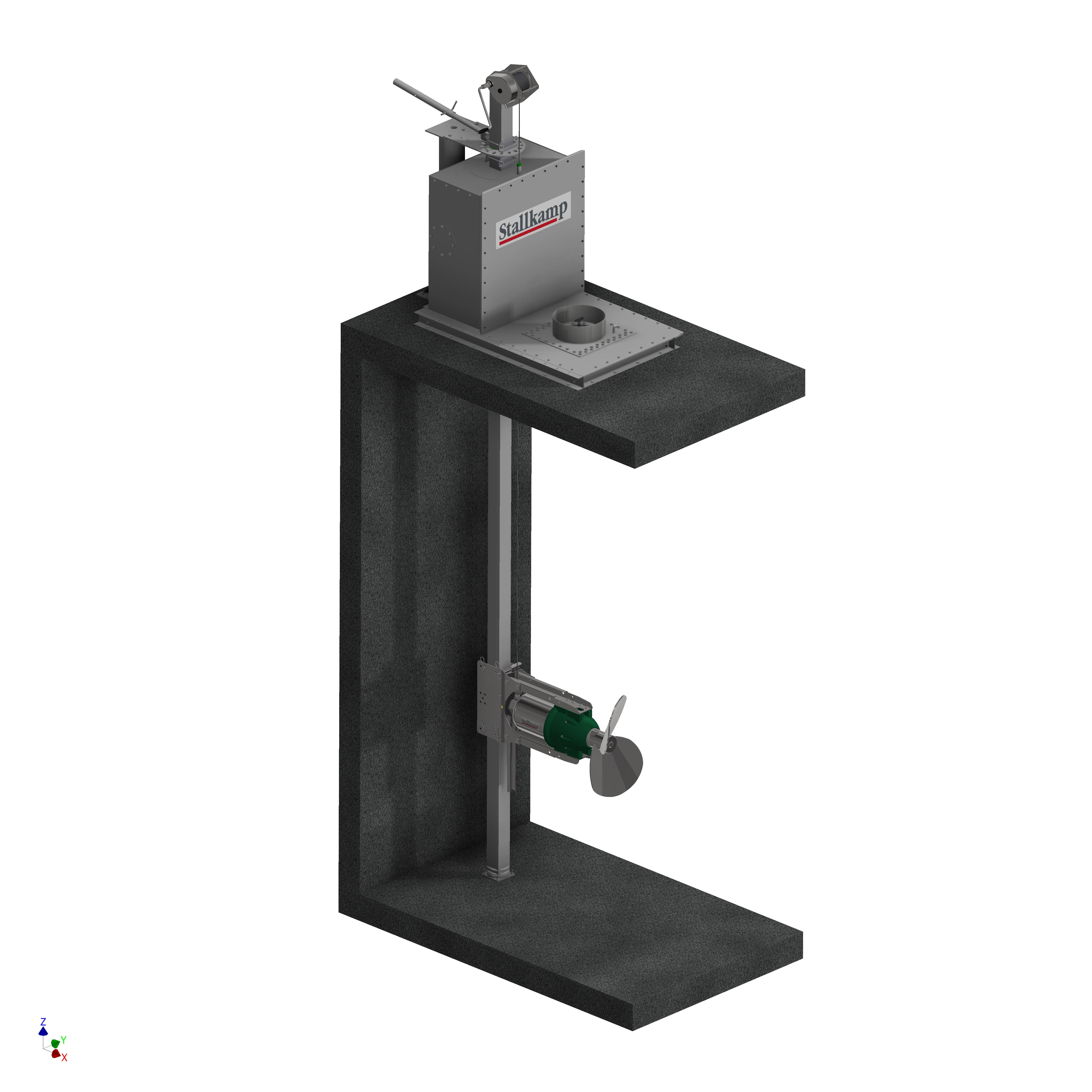 Stallkamp submersible motor agitator, mixer - Erich